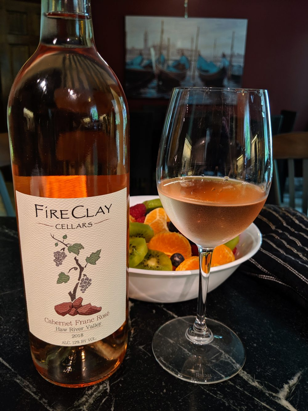 Cabernet Franc Rose NC Winery and Vineyard FireClay cellars